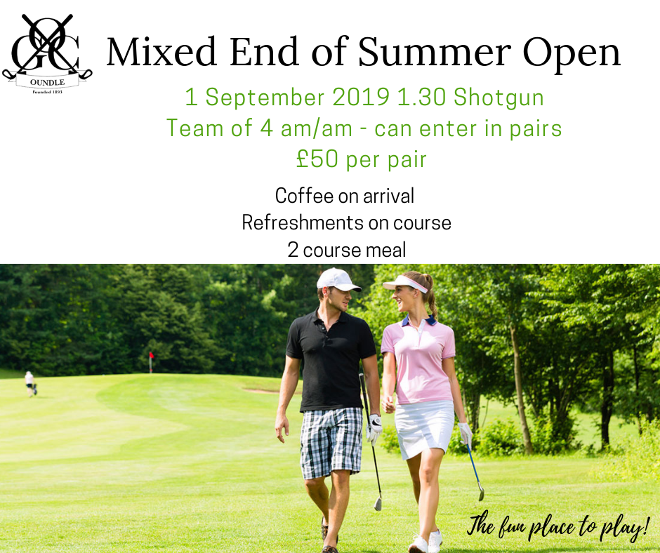 Oundle Golf Club mixed open 2019