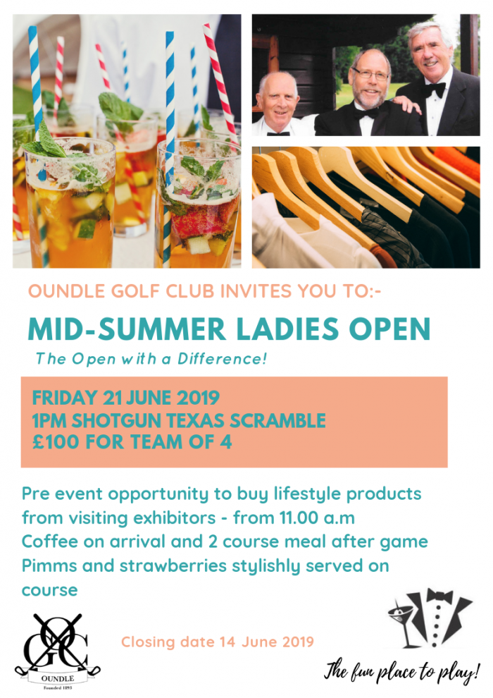 Oundle Golf Club Ladies Open poster