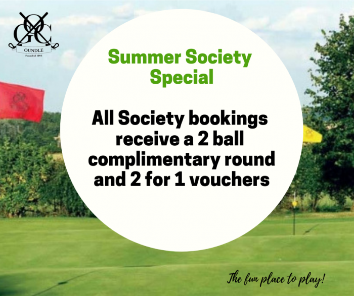 Oundle Golf Club Society booking