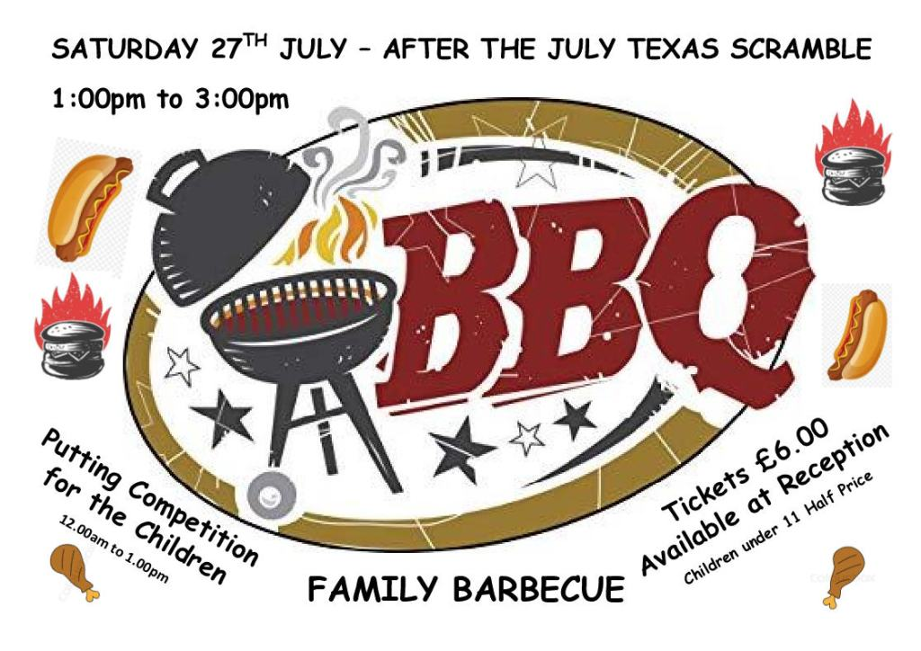 Family BBQ At Oundle Golf Club 27th July 2019